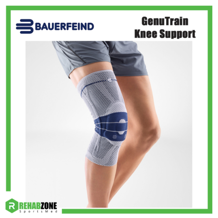 Bauerfeind GenuTrain Knee Support Titan Blue Rehabzone Singapore