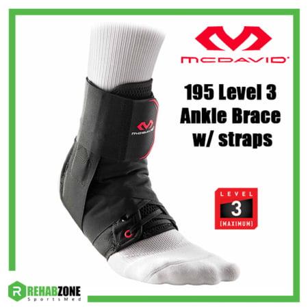 McDavid 195 Level 3 Ankle Brace w Straps (frame) Rehabzone Singapore