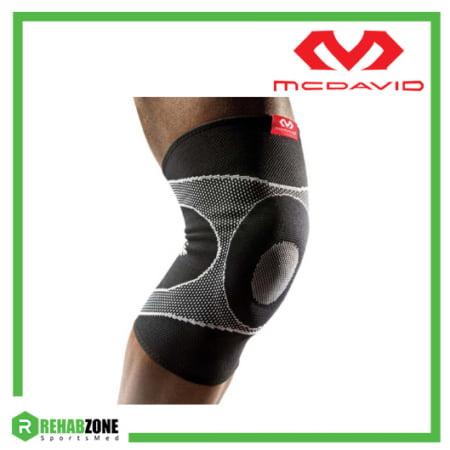 McDavid 5125 Level 2 Knee Sleeve 4-way Elastic w Gel Buttress Frame Rehabzone Singapore