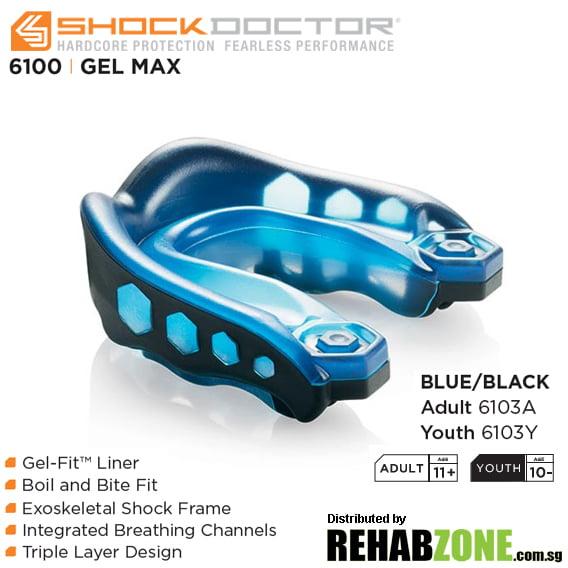 Shock Doctor Gel Max Blue Black