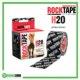 RockTape H2O Kinesiology Tape 5cm x 5m Black Logo Frame Rehabzone Singapore