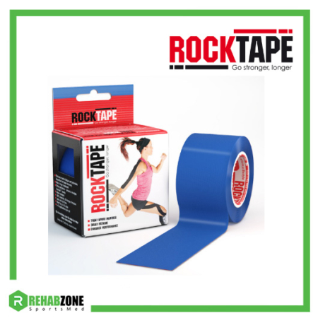 RockTape Kinesiology Tape 5cm x 5m Navy Blue Frame Rehabzone Singapore