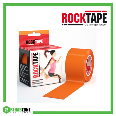 RockTape Kinesiology Tape 5cm x 5m Orange Frame Rehabzone Singapore