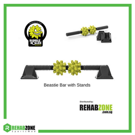 RumbleRoller Beastie Bar w Stands Extra Firm Rehabzone Singapore