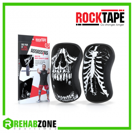 ROCKTAPE® Assassins® Knee Sleeves/Skull 7mm Rehabzone Singapore