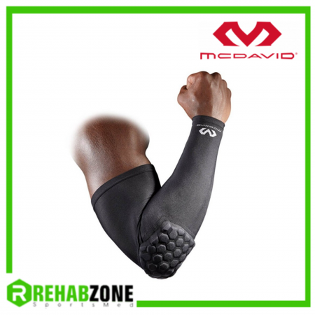 McDAVID 6500 Hex Shooter Arm Sleeve Single Black Rehabzone Singapore