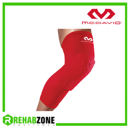 McDAVID 6446 Hex™ Leg Sleeves Pair Red Rehabzone Singapore