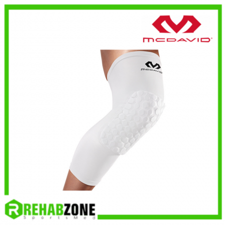 McDAVID 6446 Hex™ Leg Sleeves Pair White Rehabzone Singapore