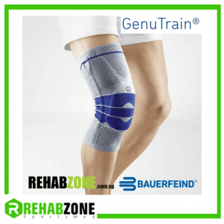 BAUERFEIND® Genutrain® Knee Support Titan-Blue Rehabzone Singapore