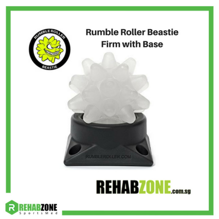 RumbleRoller Beastie Ball w Base Firm Rehabzone Singapore