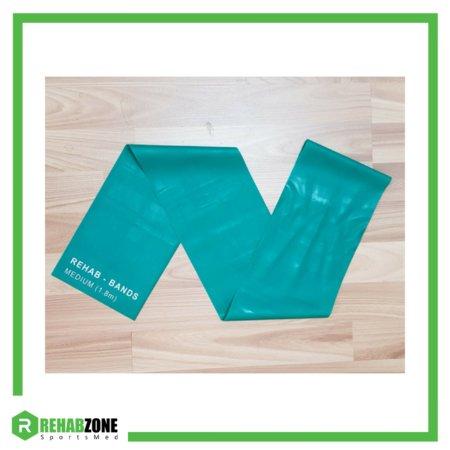 Rehabzone Flat Resistance Rehab Band Medium Green Frame Rehabzone Singapore