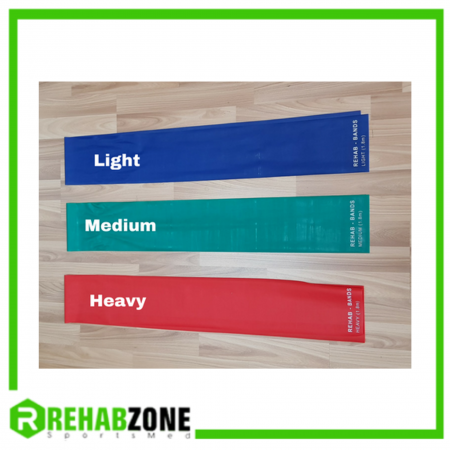 REHABZONE Flat Resistance Rehab Band / 1.8m / Set of 3 Strength Rehabzone Singapore