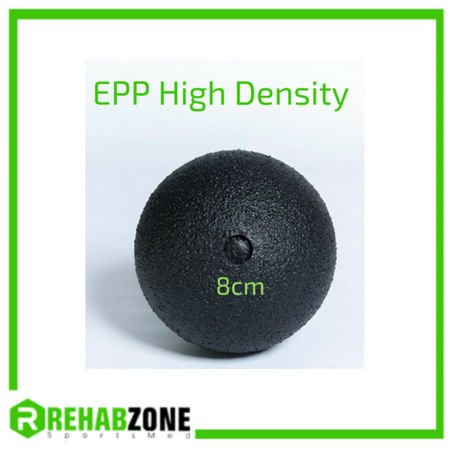 REHABZONE EPP High Density Massage Ball / 8cm / Black Rehabzone Singapore