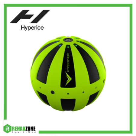 Hyperice Hypersphere Vibrating Massage Ball Green Black Frame Rehabzone Singapore