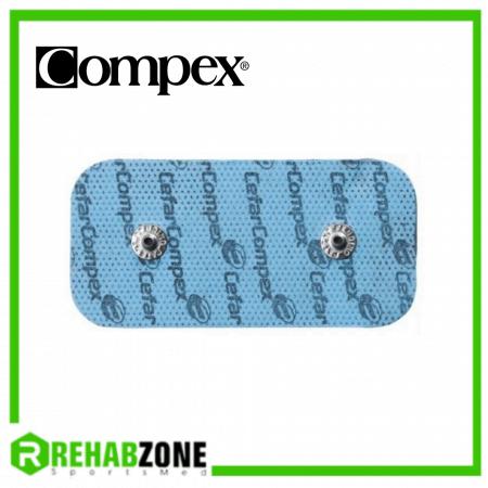 Compex Snap Electrode Pads Rectangle 2 Connector 5x10cm (2 Pieces) Rehabzone Singapore