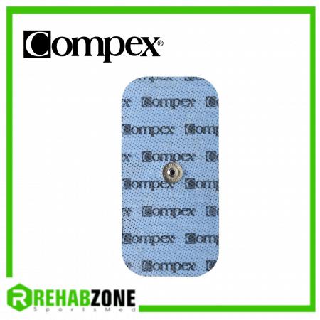 Compex Snap Electrode Pads Rectangle 1 Connector 5x10cm (2 Pieces) Rehabzone Singapore