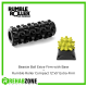 "RUMBLE ROLLER® Set / Extra-Firm Density / Black 12""x5"" Roller + Yellow Beastie Ball with Base Rehabzone Singapore"