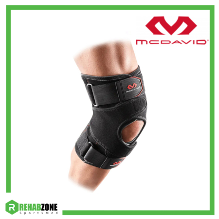 McDavid 4203 Level 2 VOW Versatile Over Wrap Knee Wrap w Stays & Straps Frame Rehabzone Singapore