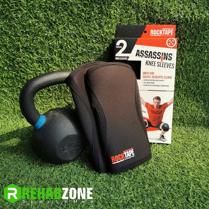 Assassins® 5mm Knee Sleeves by ROCKTAPE® / Black Rehabzone Singapore