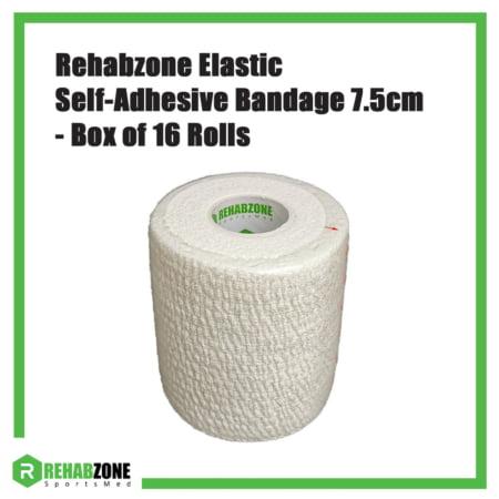 Rehabzone Elastic Self-Adhesive Bandage 7.5cm Box of 16 Rolls Rehabzone Singapore