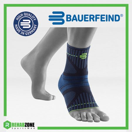 Bauerfeind Sports Ankle Support Dynamic Black Main Rehabzone Singapore