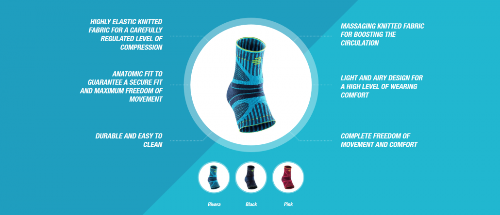 Bauerfeind Sports Ankle Support Dynamic Features Rehabzone Singapore