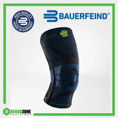 Bauerfeind Sports Knee Support Black Main Rehabzone Singapore