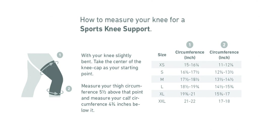 Bauerfeind Sports Knee Support Sizing Rehabzone Singapore