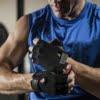 Harbinger Men's Power Gloves Reverse (Black) Lifestyle 3 Rehabzone Singapore