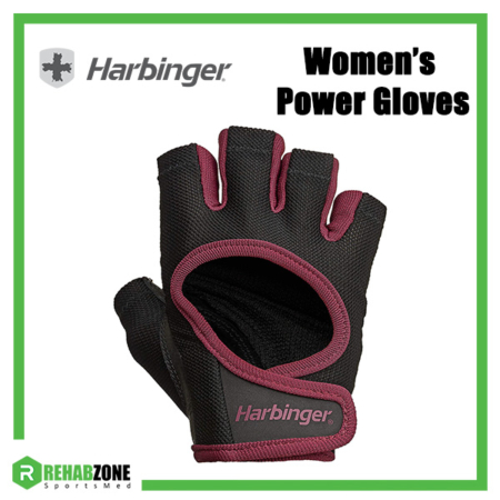 Harbinger Women's Power Gloves (Black/Merlot) Frame Rehabzone Singapore