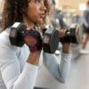 Harbinger Women's Power Gloves (Black/Merlot) Lifestyle 1 Rehabzone Singapore