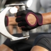 Harbinger Women's Power Gloves (Black/Merlot) Lifestyle 3 Rehabzone Singapore