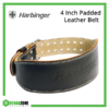 Harbinger 4 Inch Padded Leather Belt Frame Rehabzone Singapore