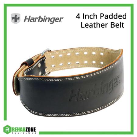 Harbinger 4 Inch Padded Leather Belt Frame Rehabzone Singapore