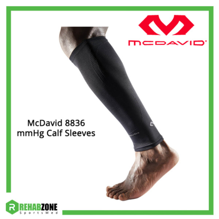 McDavid 8836 mmHg Calf Sleeves Pair (Black) Frame Rehabzone Singapore