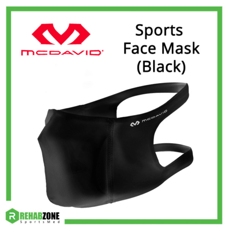McDavid Sports Face Mask (Black) Frame Rehabzone Singapore