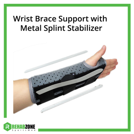 Wrist Brace Support with Metal Splint Stabilizer Frame Rehabzone Singapore