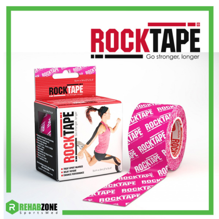 RockTape Kinesiology Tape Pink Logo Frame Rehabzone Singapore